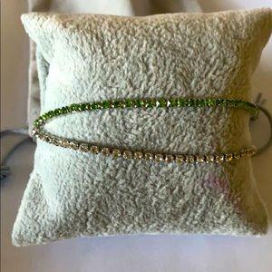 Gemstone like Double Strand Tennis Bracelet
